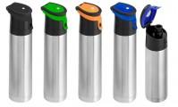 Garrafa Térmica Inox 1l tampa colorida